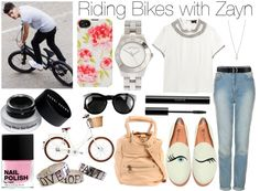 """""""Riding Bikes with Zayn"""" by wtf-towear ❤ liked on Polyvore"""
