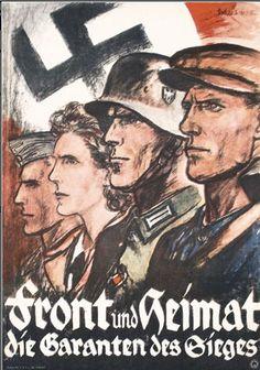 "WW2 German ""Home and front we guarantee victory.""  ~Via Kobe Chan"