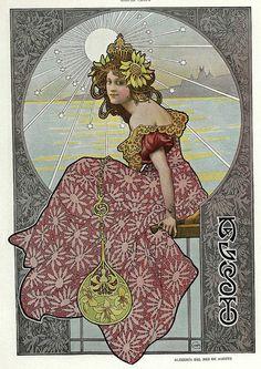 All sizes | 008-Alegoria del mes de Agosto- Gaspar Camps-Revista Álbum Salón-Enero de 1901 -Hemeroteca de la Biblioteca Nacional de España, via Flickr.