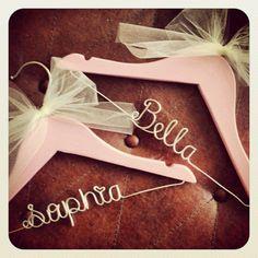 personalized Childrens hanger, kids hanger, flower girl hanger, wedding hanger, wire hanger, bridesmaid, gift