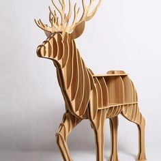 2016 Christmas Deer Wood Furniture Decoration For Home Table Storage Europe Fashion Design for Art House Decoration TM008M  — 14053.04 руб.  —