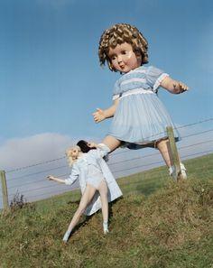 """Like a Doll"" | Model: Lindsey Wixon, Photographer: Tim Walker, Northumberland, UK, Vogue Italia, 2011"