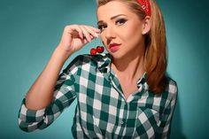 Stylizacja w stylu pin-up #pin-up #semilac #lovelygirl #akademiasemilac #nails #artnail #cherry #cherrylady