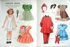 Vtg Color Paper Doll by Pat Stall Judith Leah Sears Catalog 1951 Her Frocks | eBay