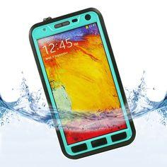 Teal Slim Water proof Case For Samsung GALAXY Note 3 + Waterproof Earphones #UnbrandedGeneric