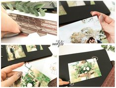 Rustic Personalised Wedding Guest Book White Floral Botanical Guestbook or Scrapbook Album