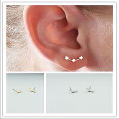 Gold Star Constellation Stud Earrings