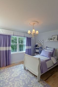 Coordinate favorite colors in your child's bedroom with custom drapes and valances.