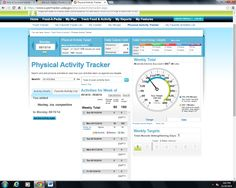 my physical activity for week 1