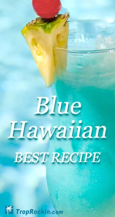 The Tasty Blue Hawaiian Drink Recipe. Similar to a Pina Colada, but with the added yum of citrus. Blue Curacao is the special touch that makes this cocktail so pretty serve up, just like you're in the islands. Blue Curacao Drinks, Malibu Rum Drinks, Coconut Rum Drinks, Peach Drinks, Pineapple Rum Drinks, Blue Cocktails, Whiskey Drinks, Coffee Drink Recipes, Alcohol Drink Recipes