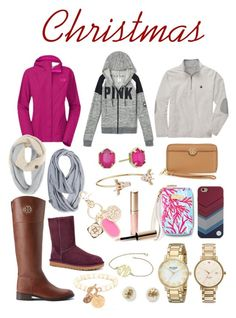 """""""Some of the items from my Christmas list """" by madelyn-abigail ❤ liked on Polyvore featuring Kate Spade, Tory Burch, Lilly Pulitzer, By Terry, UGG Australia, The North Face, Kendra Scott and Betsey Johnson"""