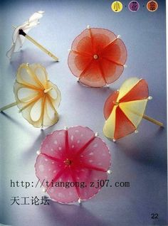 Discussion on LiveInternet - Russian Service Online Diaries Nylon Flowers, Cloth Flowers, Satin Flowers, Diy Flowers, Fabric Flowers, Nylon Crafts, Bandana Crafts, Nylons, Foam Roses