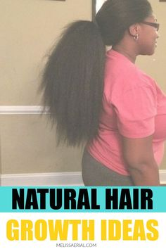 Here are some hair growth ideas for your natural hair to grow the way you want it to. #hairgrowth Natural Hair Growth Treatment, Natural Hair Growth Tips, Natural Hair Types, Natural Hair Tutorials, New Hair Growth, Hair Remedies For Growth, Hair Growth Per Month, Hair Regimen, Hair Care Routine