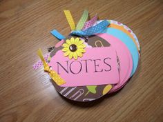 Pink and Brown Chipboard Notebook by HampshireRose on Etsy, $10.00
