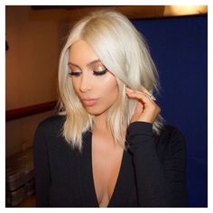 Kim K Blonde Hair Early 2015