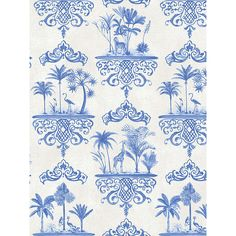 BuyCole & Son Rousseau Paste the Wall Wallpaper, Cobalt Blue, 99/9037 Online at johnlewis.com