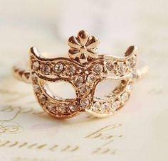 Masquerade mask ring