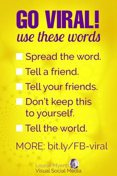 Facebook marketing tips: Try these words to go viral! CLICK to find what's the most viral content on FB, and how to make it. Learn how I boosted my Facebook followers by 60% in 4 days with a viral quote graphic. It works! #facebookmarketing #facebooktips #socialmediamarketing Social Media Images, Social Media Content, Social Media Tips, Facebook Marketing, Social Media Marketing, Twitter Tips, Tell The World, Graphic Quotes, Graphic Design Tips