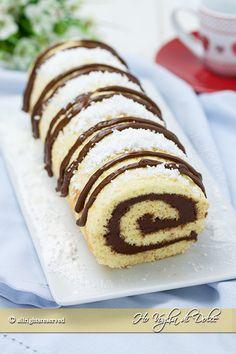 Rotolo cocco e Nutella ricetta Ho Voglia di Dolce blog