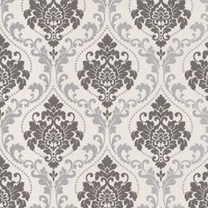 "Walls Republic Royal 32.97"" x 20.8"" Damask Wallpaper"