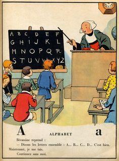 1921,Bécassine,maitresse d'école .Editions: Gauthier. http://www.pinterest.com/clperezrojas/escolar-school-days/