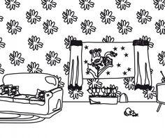 Coloreables de la Casa: Los dibujos de Juntines, listos para imprimir y colorear