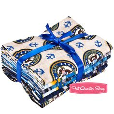 Navy Military Salute Fat Quarter Bundle Dan Morris for RJR Fabrics