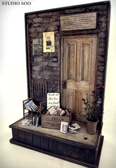Easy concept and cheap to do for a window for any season . JWF  Used bookstore scene.  by studio soo, via Flickr