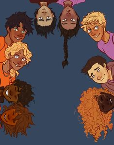 Piper McLean, Leo Valdez, Annabeth Chase, Percy Jackson, Nico di Angelo, Reyna Ramírez-Arellano, Jason Grace, Frank Zhang & Hazel Levesque| art by cherryandsisters (Artwork):