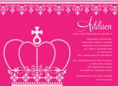 Princess Crown Azalea Invitations by Noteworthy Collections - Invitation Box