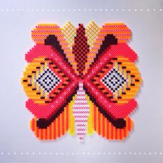 Hama butterfly, decoration, beads, perleplade. By Sara Seir