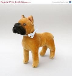 Vintage Steiff Boxer Sarras 8 in.T Standing 1322 0 or 00 by Phyndz