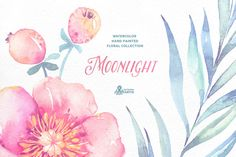 Moonlight. Floral collection by OctopusArtis on Creative Market