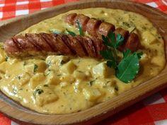 Zöldfűszeres zellerfőzelék Soup, Chicken, Soups, Buffalo Chicken, Cubs, Rooster