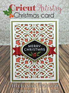 Cricut Artistry Christmas card
