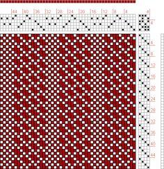 Hand Weaving Draft: 2500 Armature - Intreccio Per Tessuti Di Lana… Card Weaving, Tablet Weaving, Loom Weaving, Weaving Designs, Weaving Patterns, Crochet Patterns, Weaving Textiles, Tapestry Weaving, Polymer Clay Canes