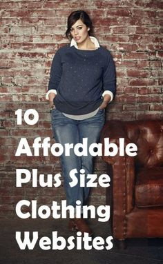 10 Affordable Plus Size Clothing Websites Tons of brands have started catering to curvy girls, expanding their clothing lines for plus size women…plus size women, with plus size wallets. While there are many boutiques out there offering plus size clothing Curvy Girl Fashion, Look Fashion, Autumn Fashion, Plus Fashion, Womens Fashion, Trendy Fashion, Fashion Ideas, Fashion Styles, Cheap Fashion
