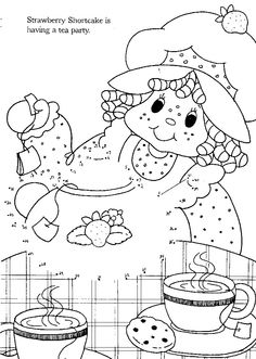 Vintage strawberry shortcake coloring pages - Coloring Pages .
