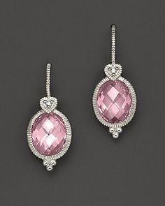 I really love these - so elegant!  Pink gemstone earrings.  Via @devalera. #earrings #pink