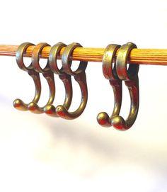 Old brass hooks