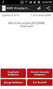 """WWE Wrestler Logo Quiz""<p>Have you ever watched a WWE games?<p>if you are a true fan of World Wide Wrestling then download this quiz and prove that you are the biggest fan. <p>This quiz contain Images of wrestlers and divas.<br>It is multimedia fun trivia.<p>Each level is unique and different from the other.<br>each level has 15 questions.<br>by playing you can test your knowledges about world wide entertainment.<br>currently we have 10 level.<p>1) ""The Undertake quiz""<br>2) ""WWE Raw…"