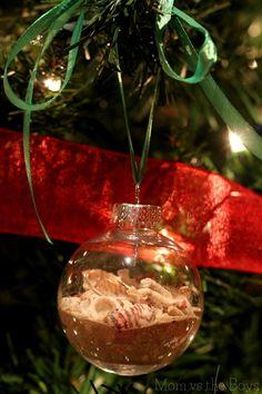 Memories of the Beach Homemade Christmas Ornament
