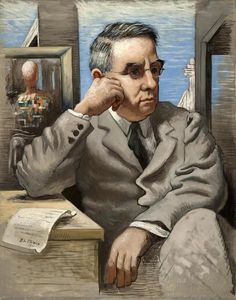 giorgio de chirico(1888–1978), dr. albert c. barnes, 1926. oil on canvas, 92.7 x 73.7 cm. the barnes foundation, merion, pennsylvania, usa http://www.barnesfoundation.org/collections/art-collection/object/3046/dr.-albert-c.-barnes?artistID=46=4; http://www.barnesfoundation.org/collections/art-collection/artist/46/giorgio-de-chirico