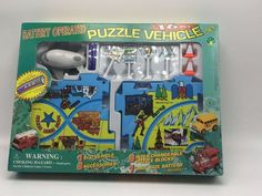 Puzzle Airplane Vehicle Set: Battery Operated 16 Pc Plane, Airport Setting Toy