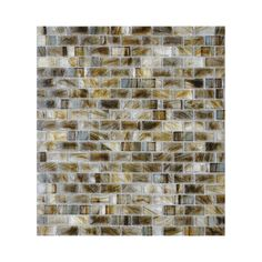 "Possible kitchen backsplash. American Olean 1-1/4"" x 5/8"" Visionaire Gentle Earth Glass Wall Tile"