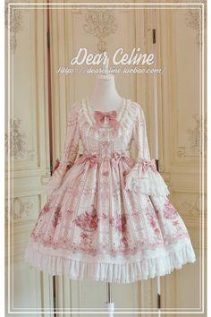 Comtesse de Provence Dress~ Lolita OP Luxuriant Version -Ready Made-OUT Harajuku Fashion, Kawaii Fashion, Lolita Fashion, Girl Fashion, Emo Fashion, Gothic Fashion, Frilly Dresses, Cute Dresses, Flower Girl Dresses