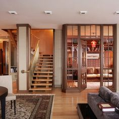 Room divider idea - between the office and great room, or the sun room and kitchen.