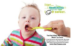 The HAPPIEST way to clean up messy lil faces! Go LIKE @NeatCheeks on FB then SHARE their page with a friend and Neat Cheeks will send you a pack to try!  Here's a link to their FB: https://www.facebook.com/pages/NeatCheeks/592264904120503  #baby #toddler #messyface