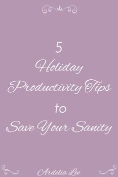 One of the best things about the holiday season is that family and friends gather at each other's houses to celebrate togetherness and the blessings of the past year. Unfortunately, if you work from home, that can be one of the bad things about it, too. If you find yourself with relatives underfoot this holiday season, try to implement these 5 holiday productivity tips. You'll save your own sanity and ensure that you're not a grinch.