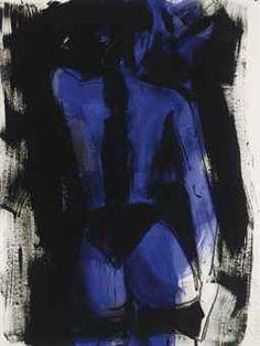 Untitled (Rückenakt Blauer)  Luciano Castelli